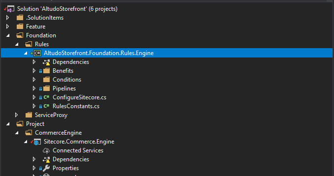 Adding a new Project in Sitecore Commerce Engine